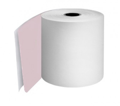 57 x 57 x 12.7mm Core 2 Ply Rolls White/Pink Boxed 20s - 050