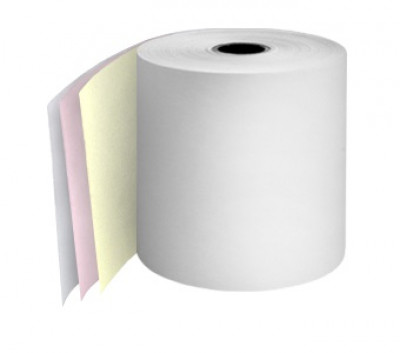 57 x 55 x 12.7mm Core 3 Ply Action Rolls White/Pink/Yellow Boxed 20s - 060
